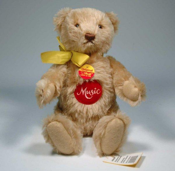 4: Steiff Music bear in caramel mohair, 1993 limited ed