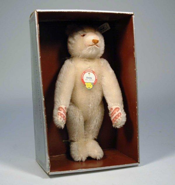 """6: Steiff """"Dicky"""" white mohair bear,  1992 limited edit"""