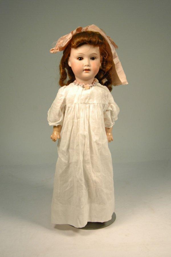 9: German bisque head doll with compo body Trebor Germa