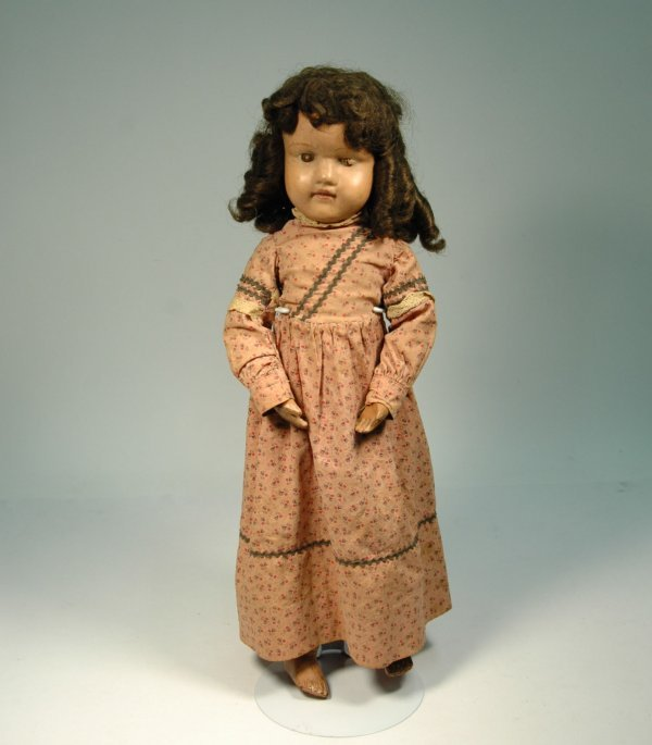16: Schoenhut painted wood Character Girl doll, painted