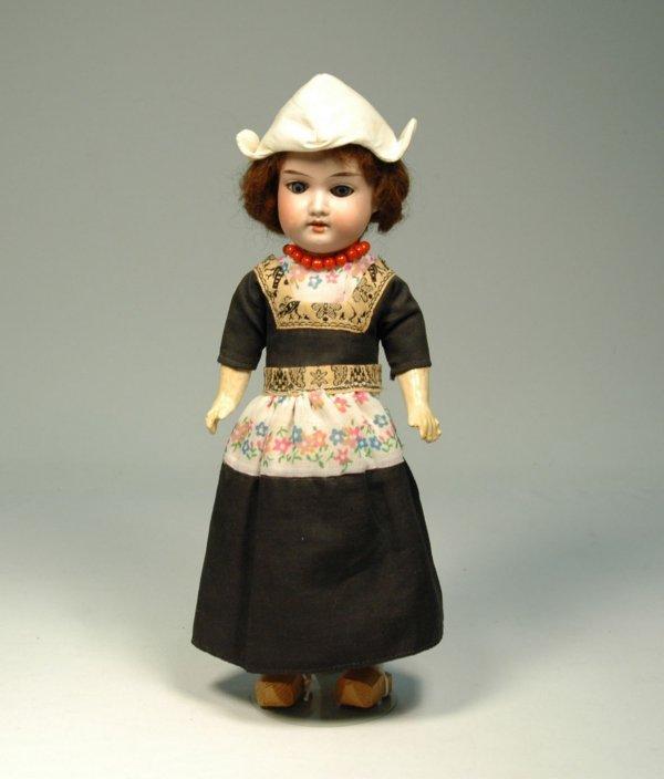 17: AM (Armand Marseille) bisque head, compo body doll,