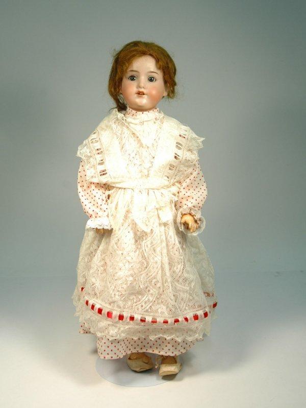 18: AM (Armand Marseille) bisque head, compo body doll,