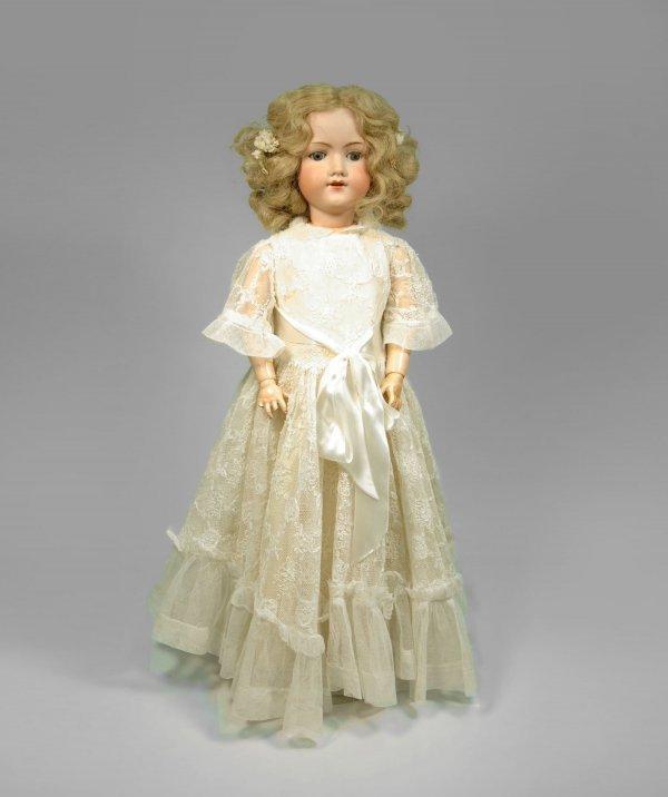 19: AM (Armand Marseille) bisque head, compo body doll.