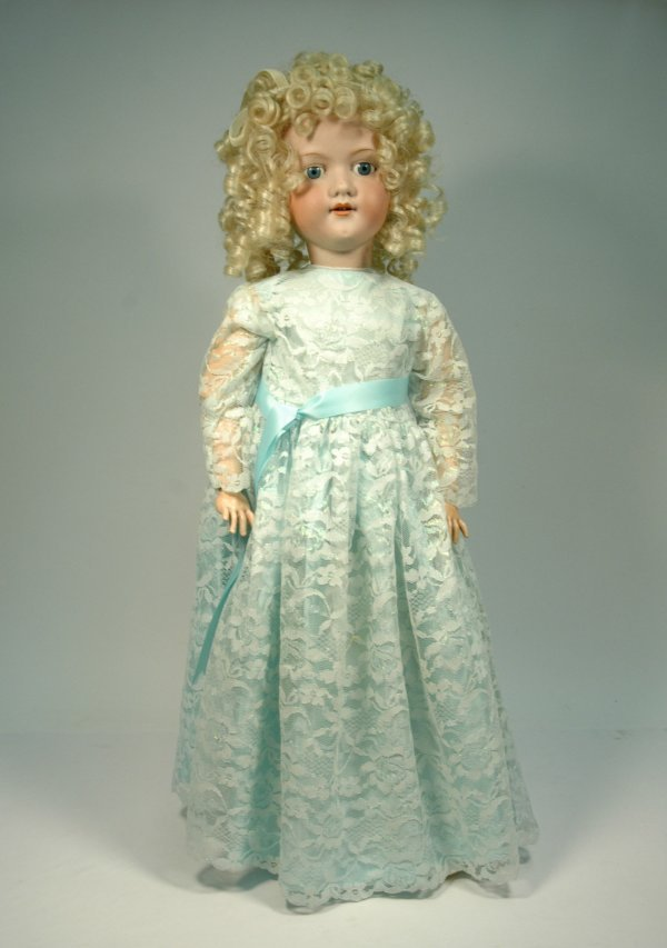 21: AM (Armand Marseille) bisque head, compo body doll,