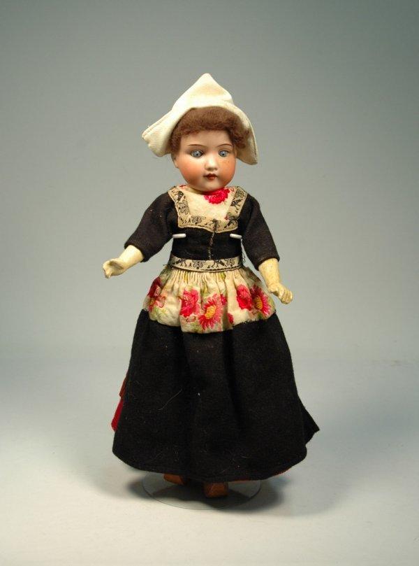 24: AM (Armand Marseille) bisque head, compo body doll,