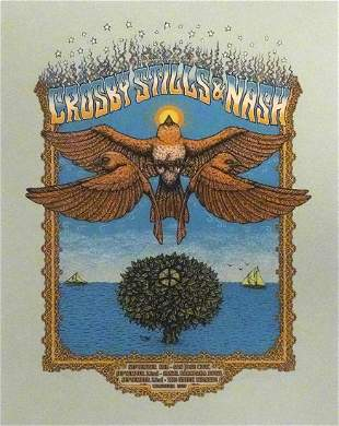 Crosby, Stills and Nash concert poster
