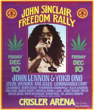 John Sinclair Freedom Rally concert poster