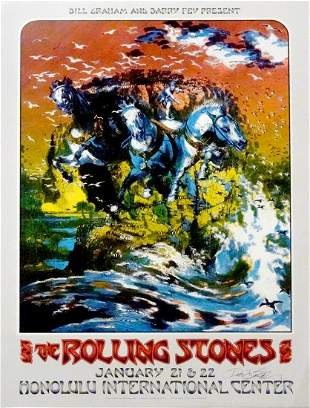 The Rolling Stones concert poster