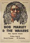 Bob Marley and The Wailers concert poster
