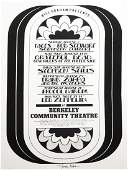 1971 Berkeley Community Theater concert poster
