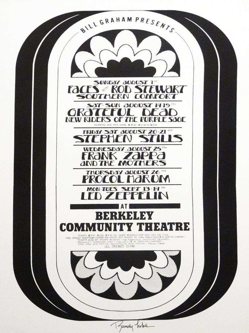 1971 Berkeley Community Theater concert poster