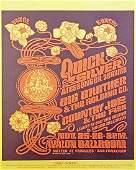 The Quicksilver Messenger Service concert poster