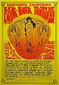 Northern California Folk Rock concert poster