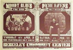 The Moody Blues concert poster