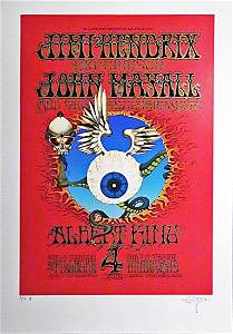 The Jimi Hendrix Experience Flying Eyeball poster
