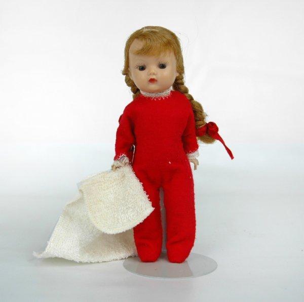 """2: Muffie doll by Nancy Ann, 7 1/4"""", unmarked hard plas"""