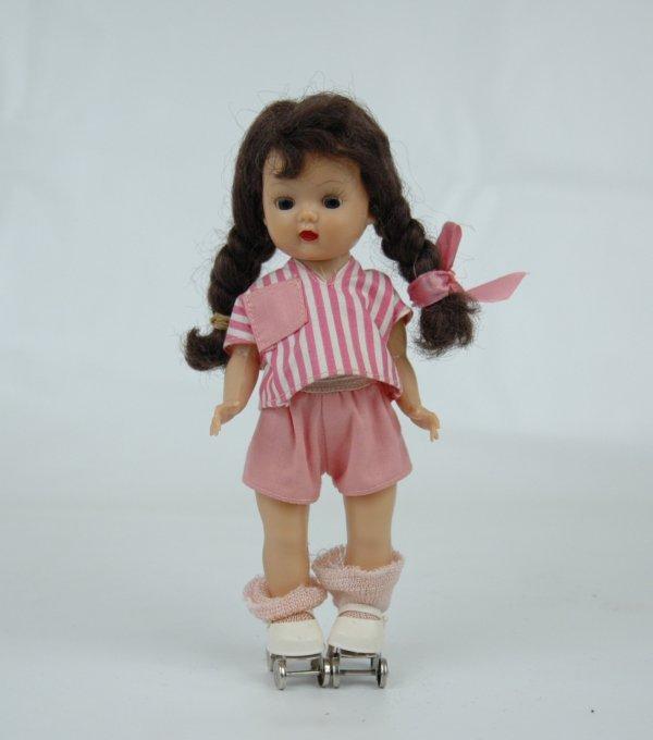 """3: Muffie doll by Nancy Ann, 7 1/4"""", hard plastic walke"""