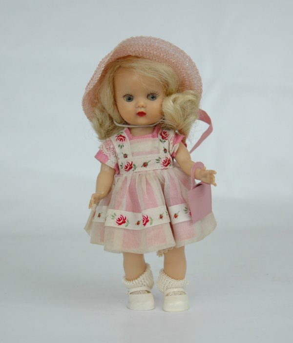 """4: Muffie doll by Nancy Ann, 7 1/4"""", hard plastic walke"""