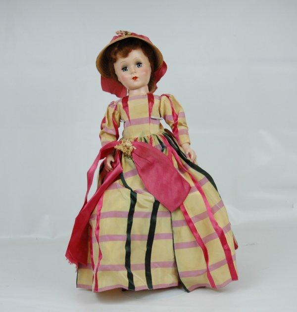 "10: 18"" hard plastic doll, C. 1950's, Nancy Ann Style,"