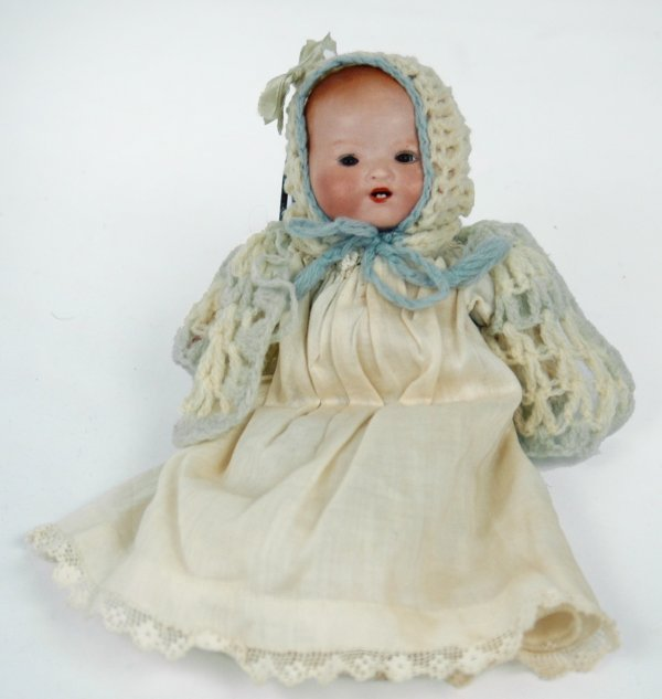 """17: Armand Marseilles 7"""" bisque head doll, marked on ba"""