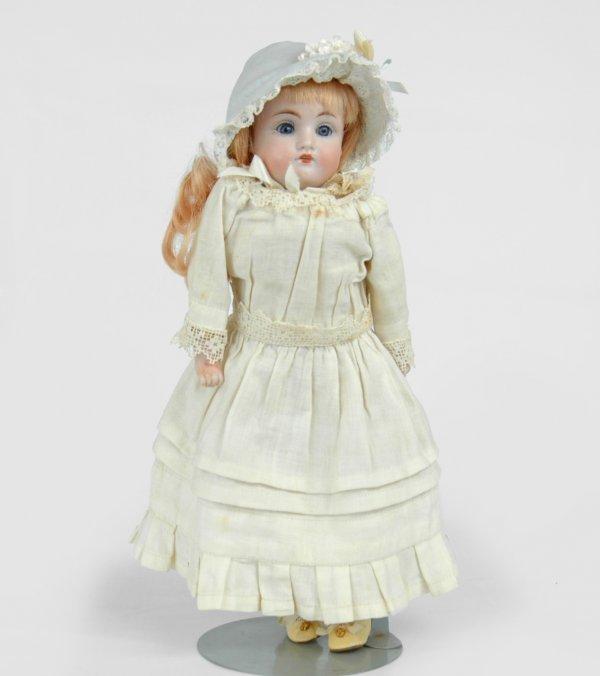 """20: Bisque head Kestner doll, 13"""", marked DEP. 154 1 1/"""