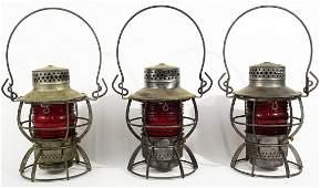 Three Dressel railroad lanterns