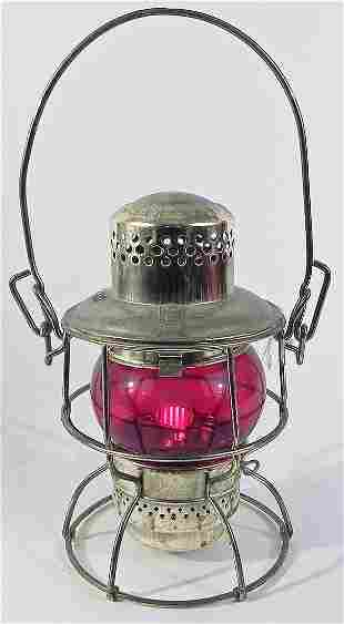 Adams Westlake Co. Adlake brass railroad lantern