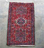 "385: Hand tied Oriental rug, ""Hamadan"", cloth tag on re"