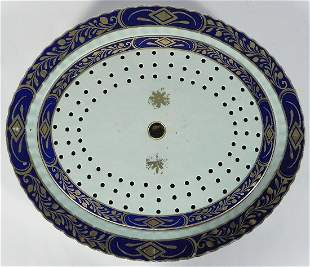 Continental porcelain platter and drainer
