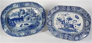 Two English Staffordshire platters