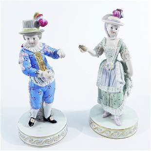 Pair of Meissen porcelain figurines
