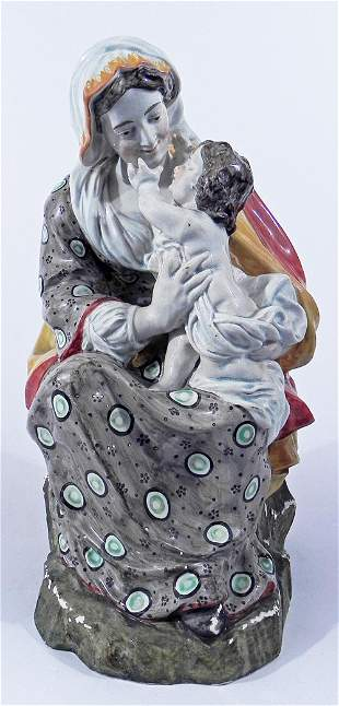Continental porcelain mother and child