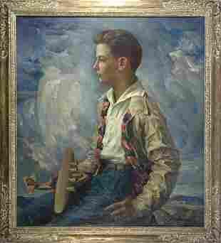 Arthur Meltzer oil on canvas
