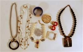 Signed designer costume jewelry