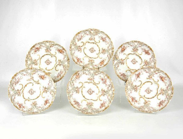 6: Set of six Haviland & Co. Limoges oyster plates, for