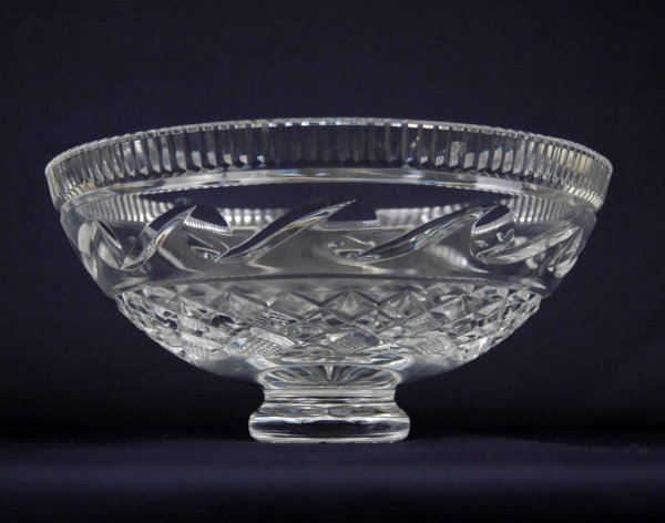9: Waterford crystal footed bowl, marked on bottom,  5