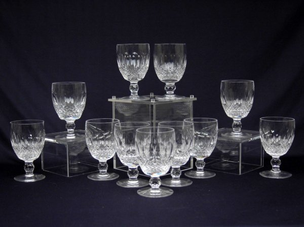 """80: Set of eleven Waterford crystal water goblets """"Coll"""