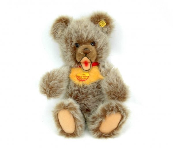 "616: Steiff jointed bear, ""Zotty"", 13"", gold ear button"