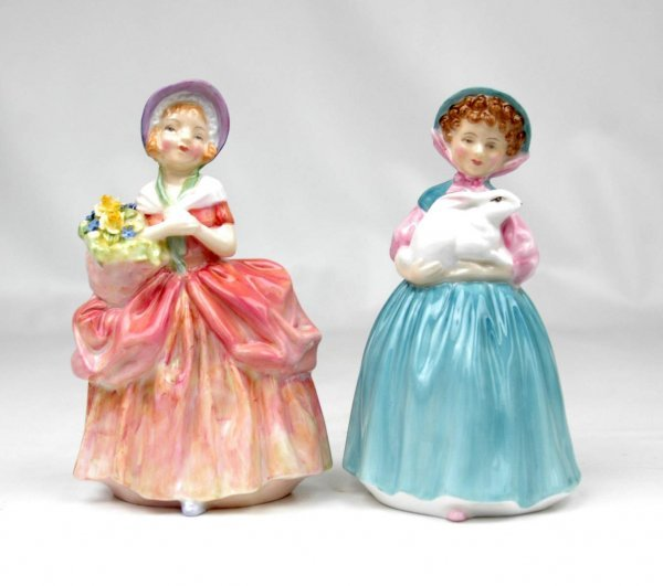 """17: Two Royal Doulton figurines, """"Cissie"""", HN 1809, and"""