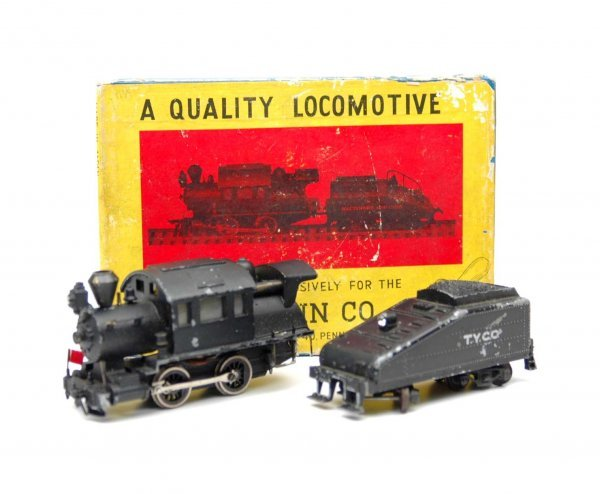 1: HO locomotive and tender, Camel Back 0-4-0 Diamond S