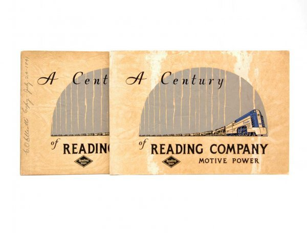 "7: Two copies ""A Century of Reading Company Motive Powe"