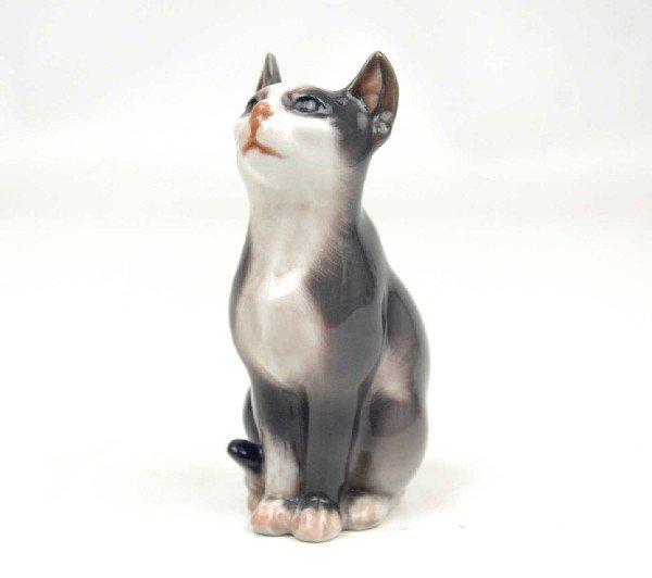 "2: Dahl Jensen Copenhagen figurine ""Seated Cat"", 1329,"