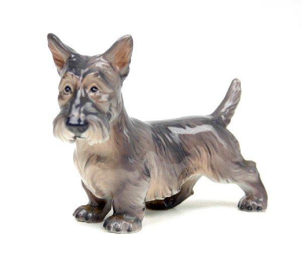 "10: Dahl Jensen figurine ""Scottish Terrier"" standing, 1"