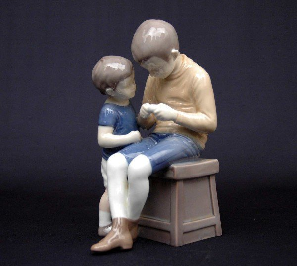"""13: Bing & Grondahl figurine """"Tom and Willy"""", 1648, mar"""