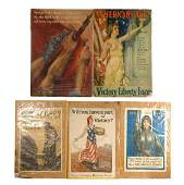 332: Group of five World War I and II posters, Howard C