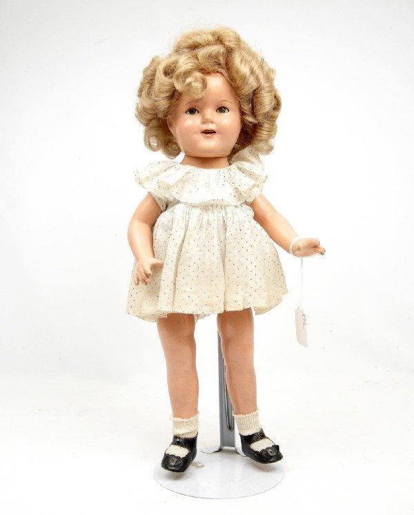 601: Ideal Compo Shirley Temple doll, marked Shirley Te
