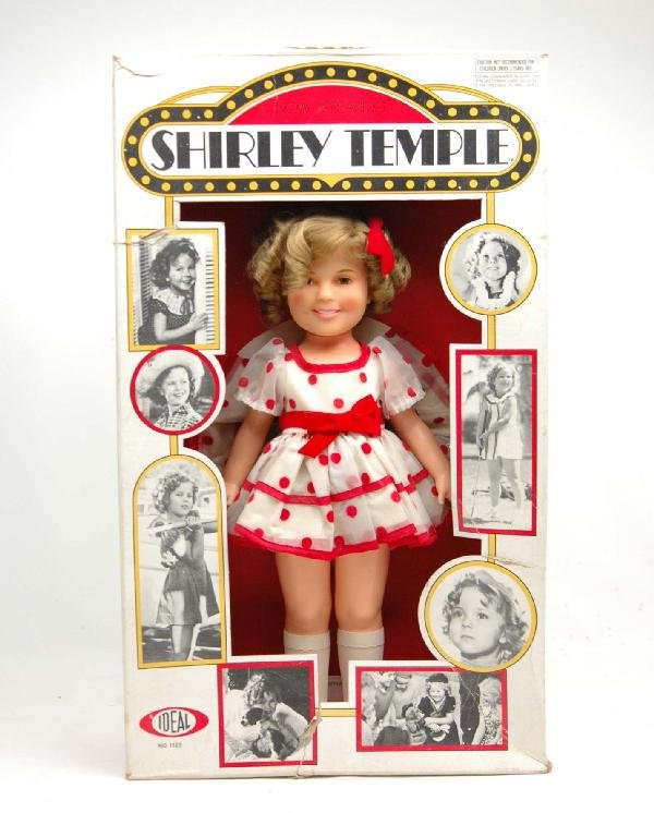 "606: Vinyl Shirley Temple doll in original box, 16"", C."