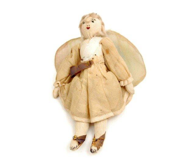 613: Cloth fairy or angel doll, blonde hair, all origin
