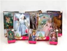 819 Set of eight Barbie Wizard of Oz dolls in original