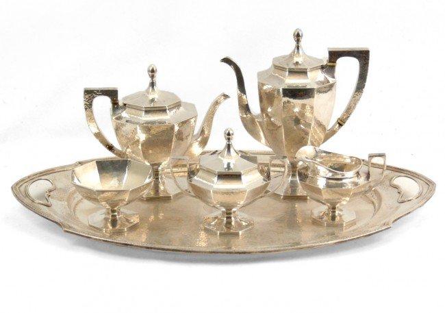 281: International sterling silver tea and coffee servi